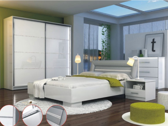 Smartshop Ložnice MALAGA, bílá