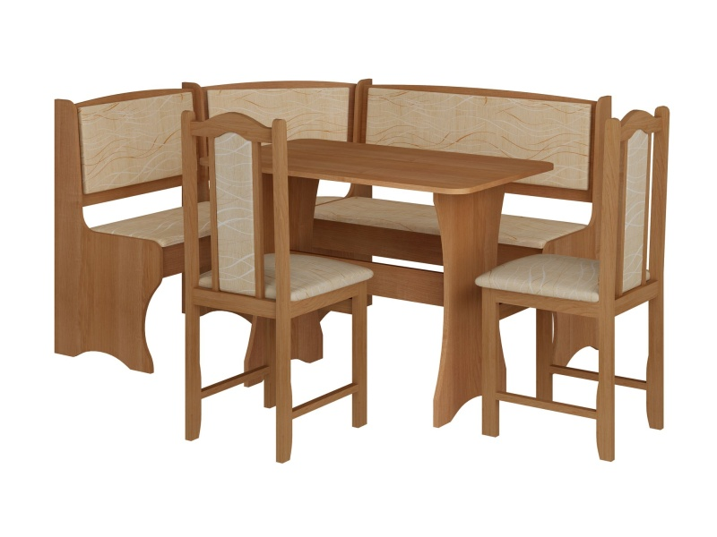 MORAVIA FLAT Jídelní rohový set se židlemi A, barva: ...