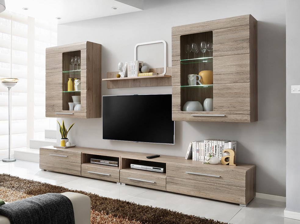 Smartshop Timber 280, obývací stěna, dub san remo