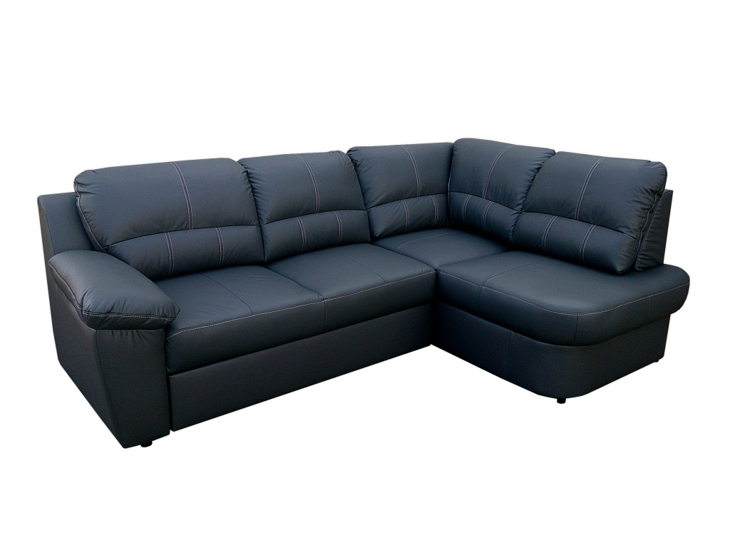 Aspol Kožená rohová sedačka AROSA, černá, pravá
