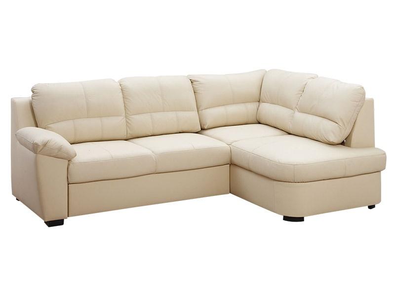 Aspol Kožená rohová sedačka AROSA, krémová, pravá
