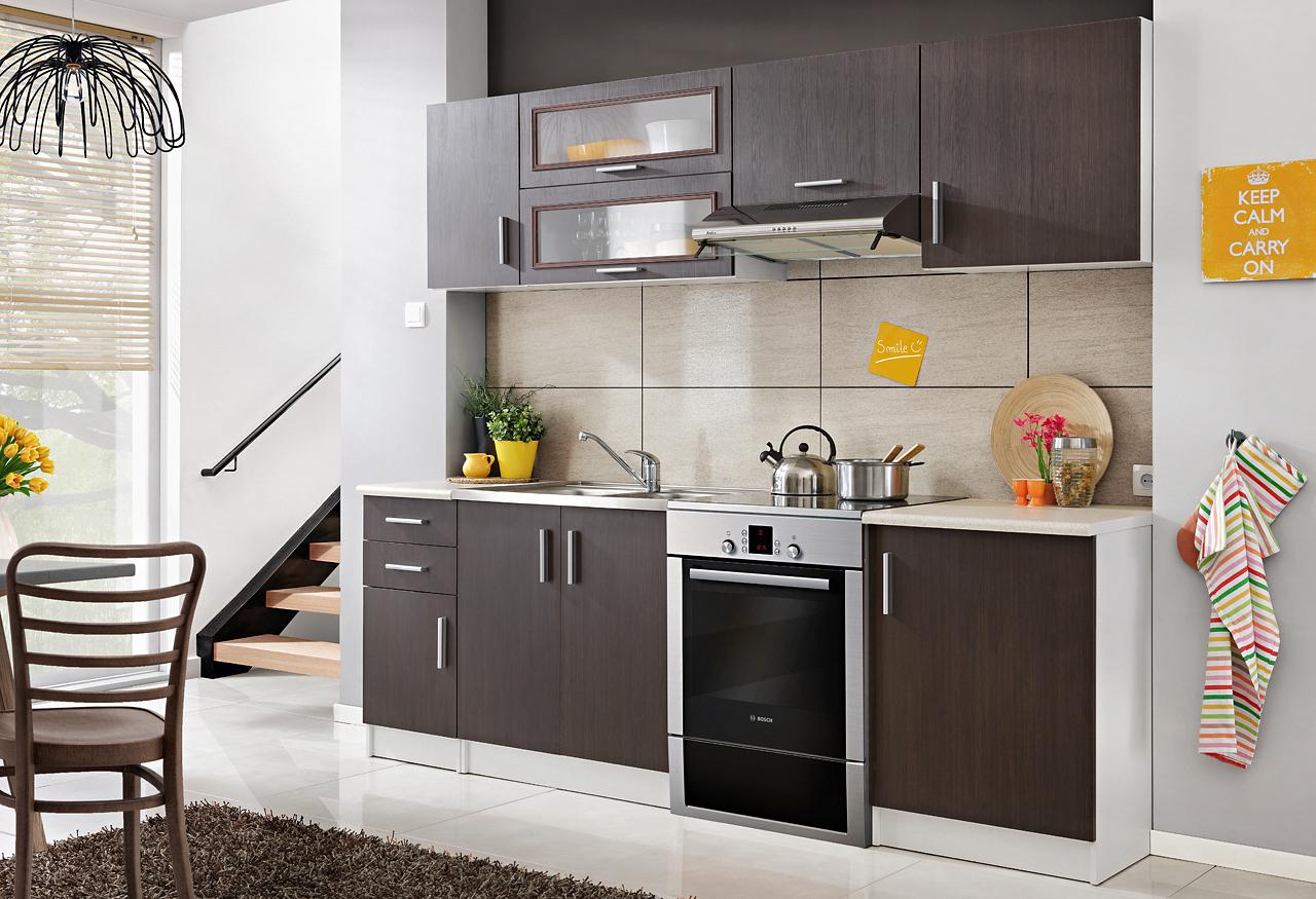 Smartshop Kuchyně TOSCA 180/240 cm, kaštan legno, WS80GRF/2