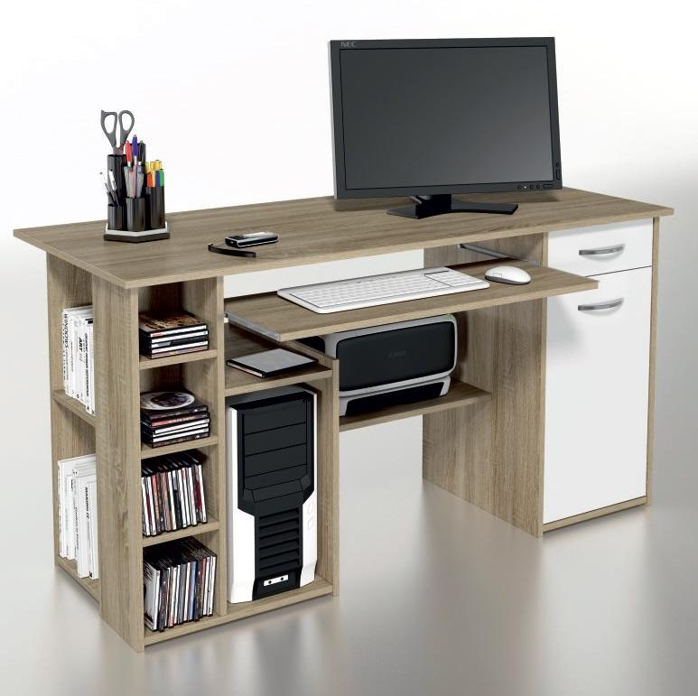 ORFA MIX Multifunkční PC stůl MICRO M16, dub sonoma/bílá