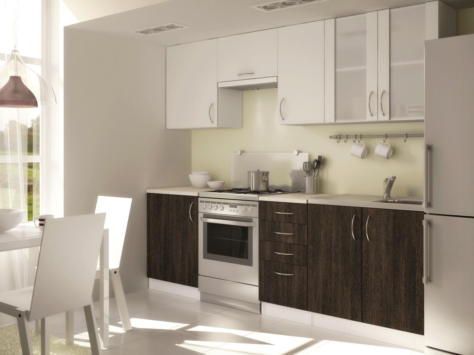Smartshop Kuchyně KENYA 180/240 cm, wenge arusha 3D/alpská bílá