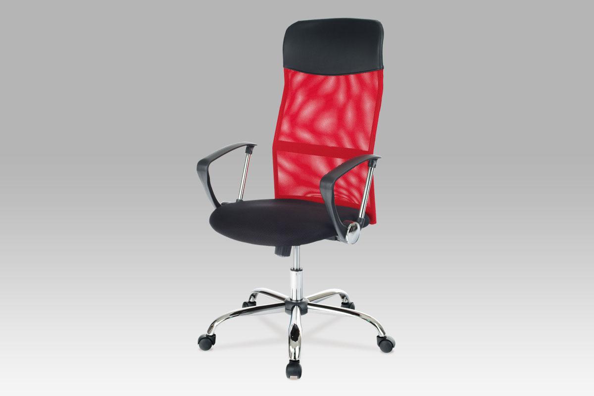 Autronic Kancelářská židle KA-E300 RED PU/látka MESH červená