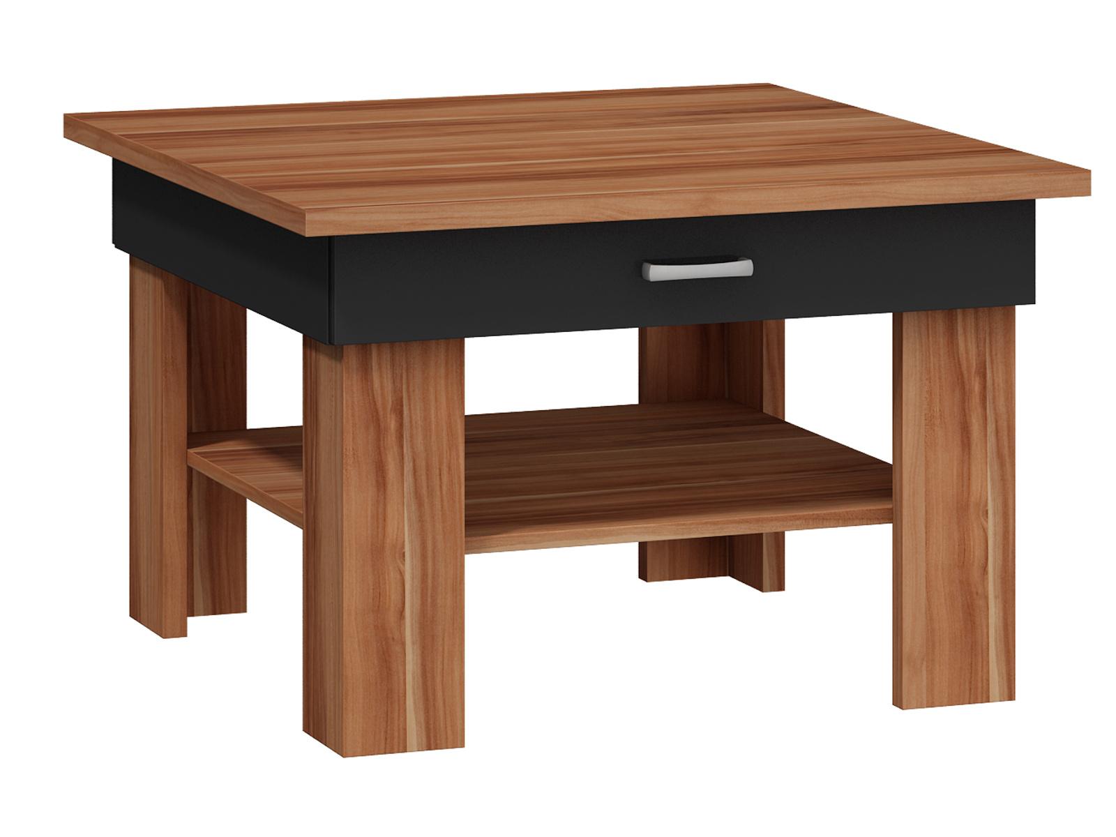 MORAVIA FLAT Konferenční stolek OMEGA, švestka wallis/černá