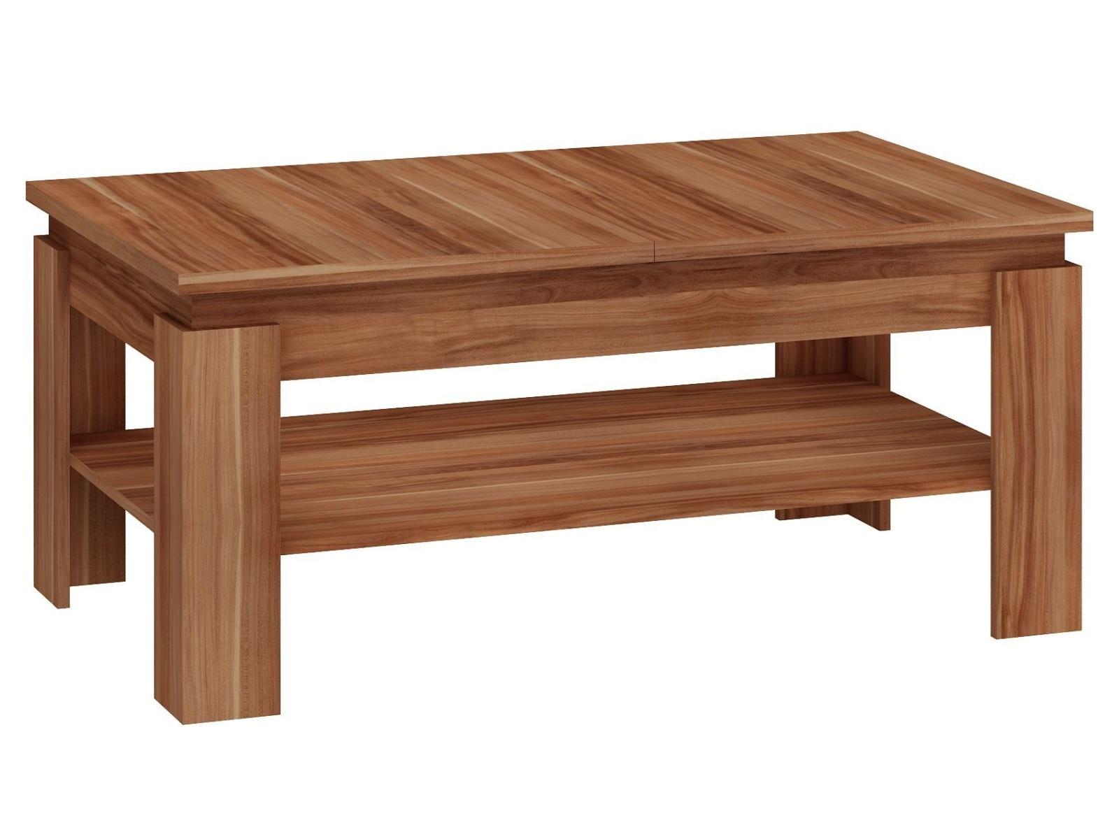 MORAVIA FLAT Konferenční rozkládací stolek BOSTON, švestka wallis