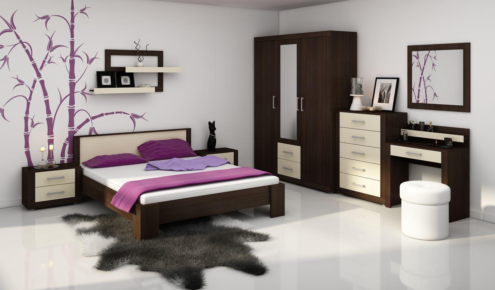 MORAVIA FLAT VIKY, ložnice, wenge/krém