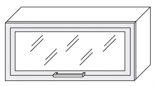 Extom TITANIUM, horní skříňka W4bs 80 ALU, korpus: grey