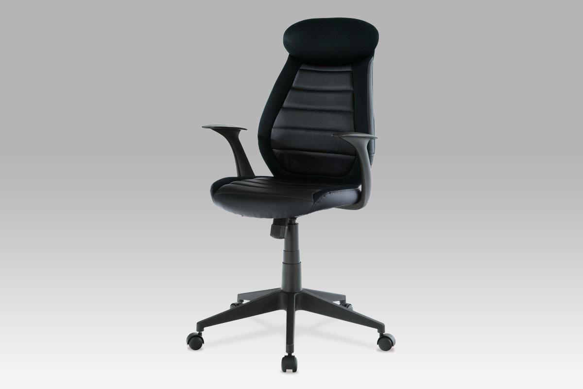Autronic Kancelářská židle KA-T213 BK, koženka + mesh černá