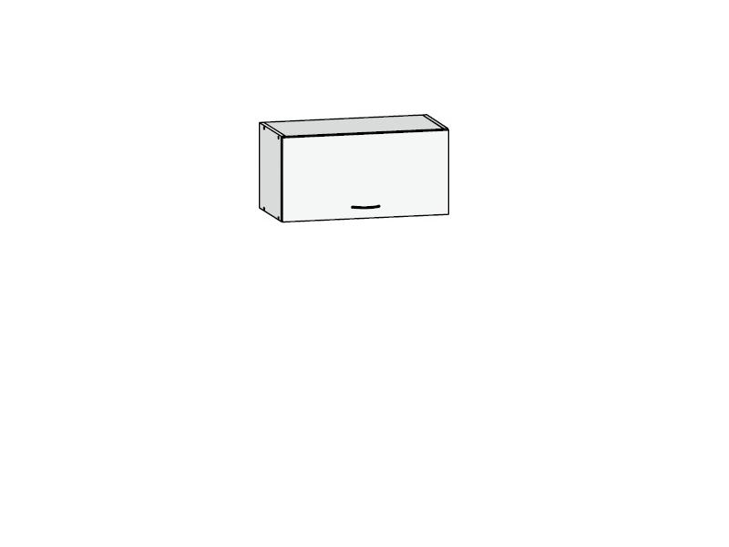Black Red White JUNONA LINE, skříňka nad digestoř 60 cm, bílý lesk
