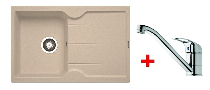 Pyramis SET dřez CARMINA 78x50 + páková baterie ACCEL-CHROM, barva: ...