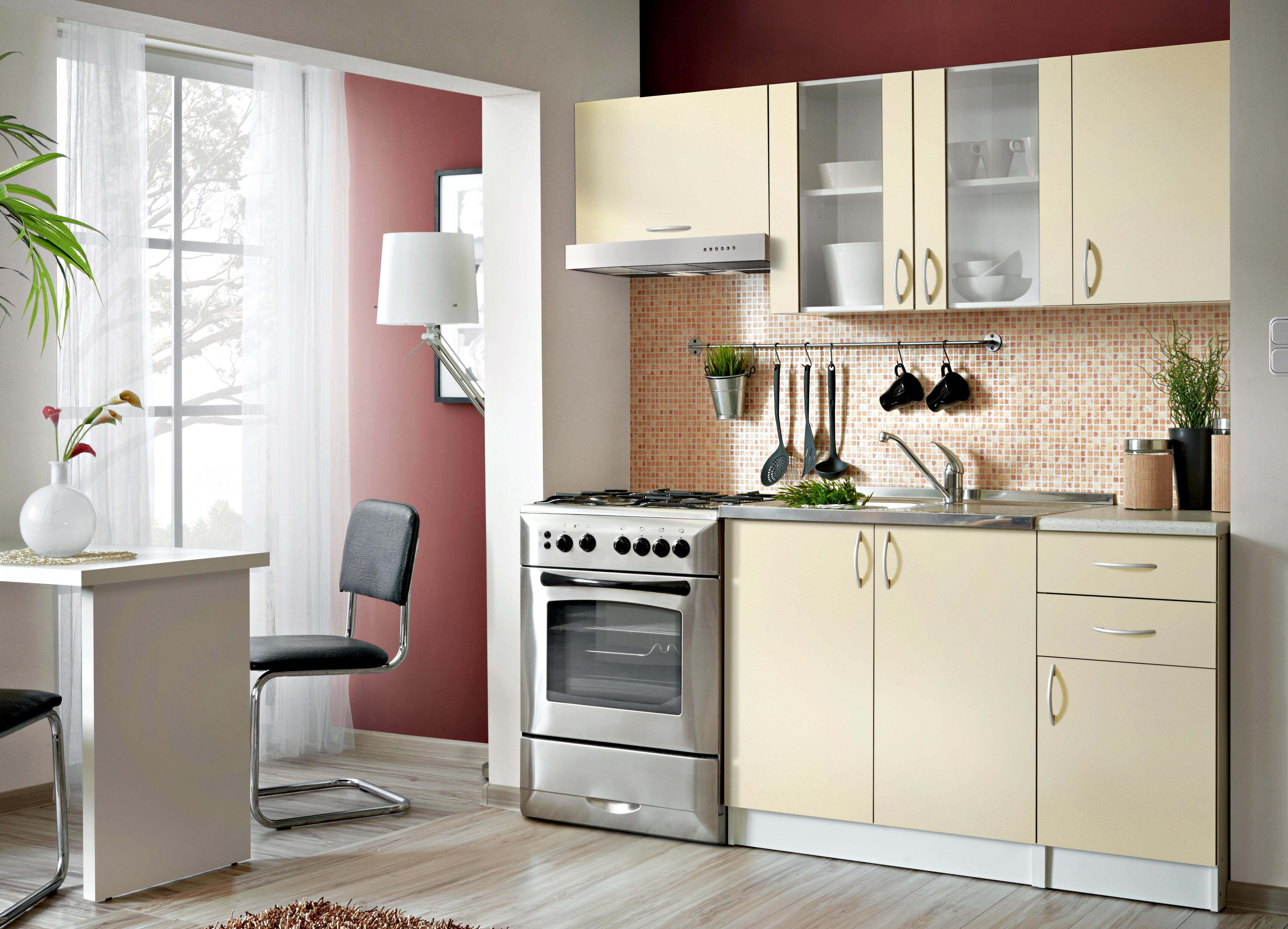 Smartshop Kuchyně JOLANA 120/180 cm, vanilka DOPRODEJ