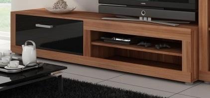 MORAVIA FLAT VIKY, televizní stolek, švestka wallis/černý lesk