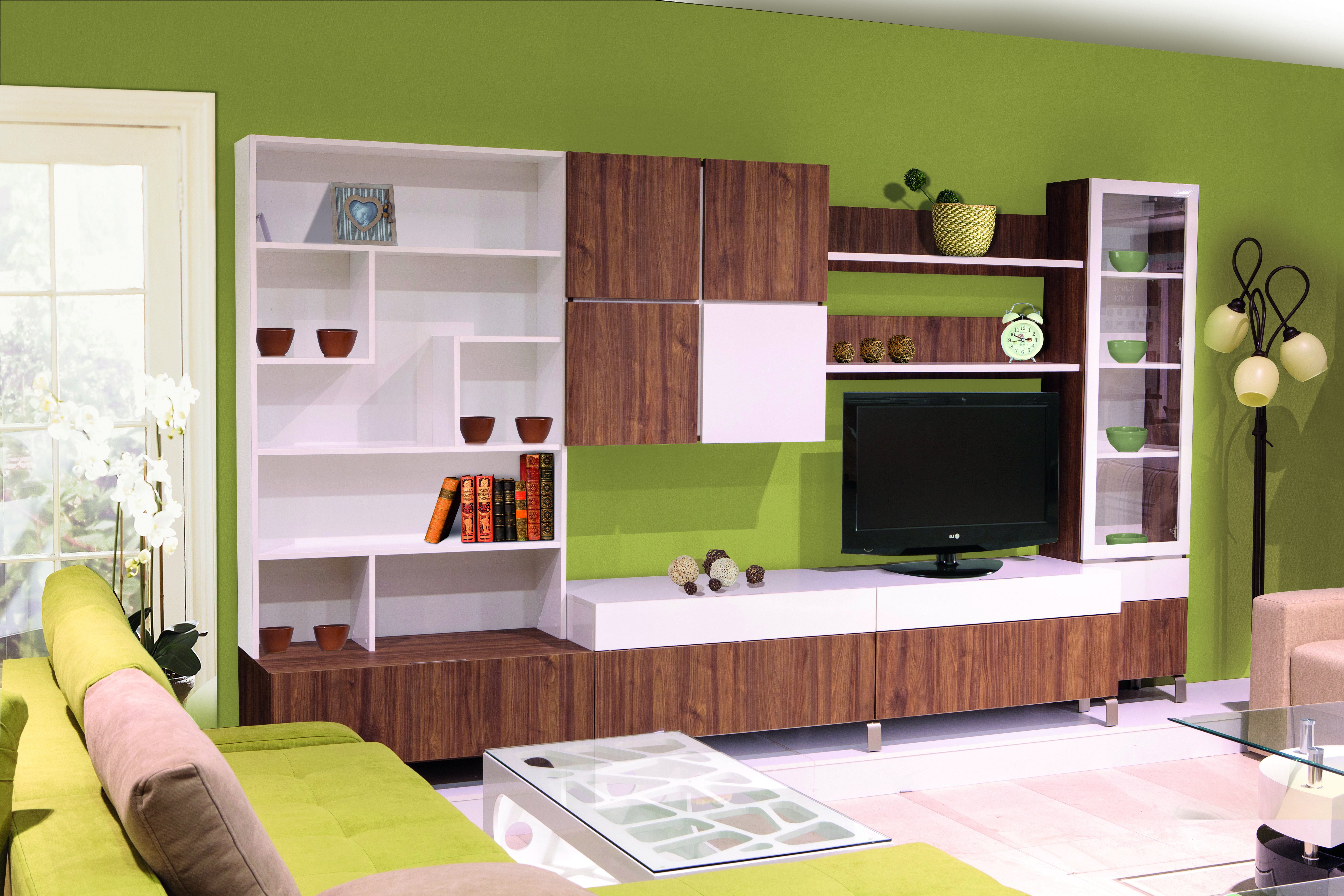 MATIS KVADRO, obývací stěna 4, ořech