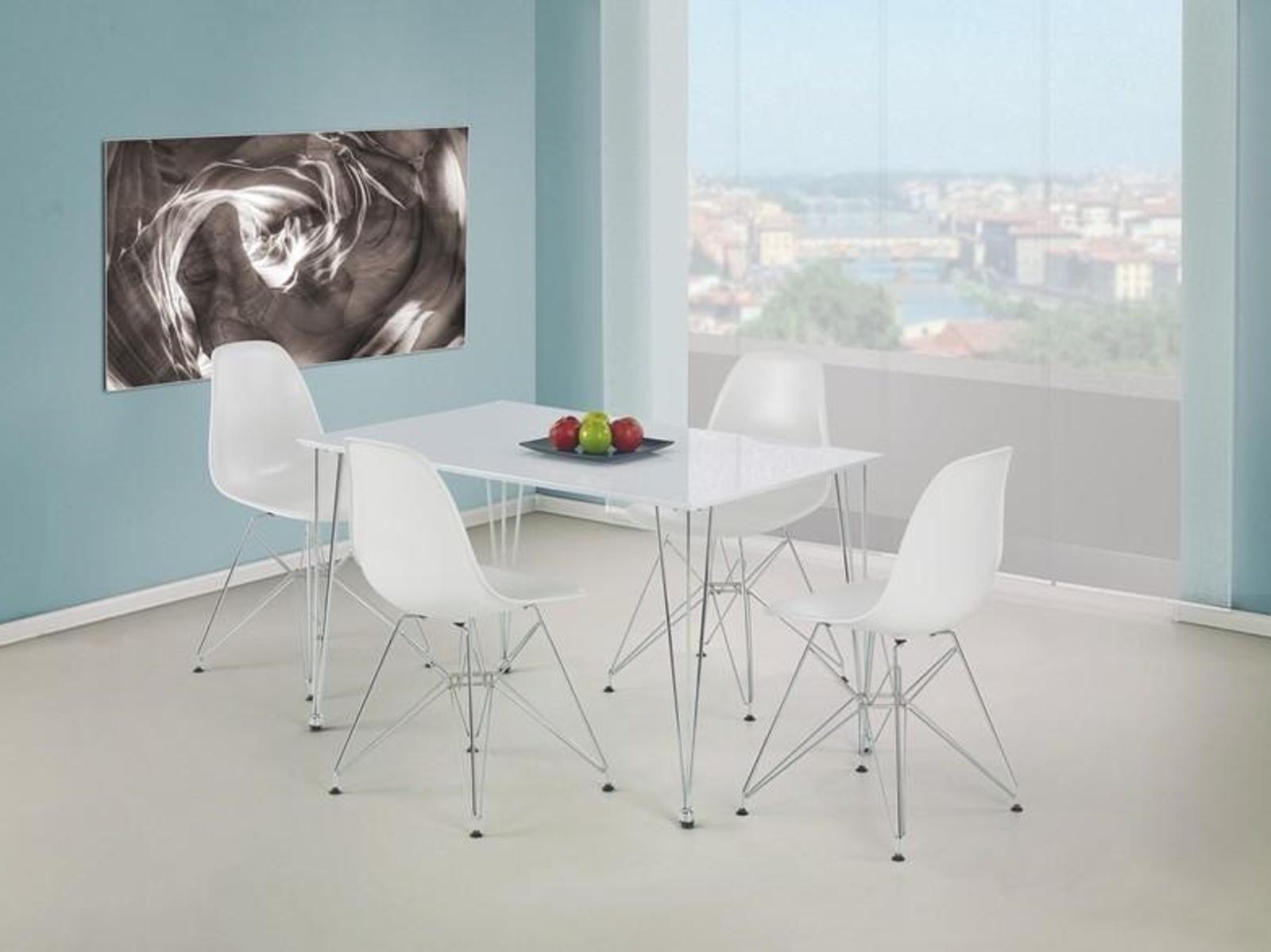 Halmar Jídelní stůl TWISTER, bílý