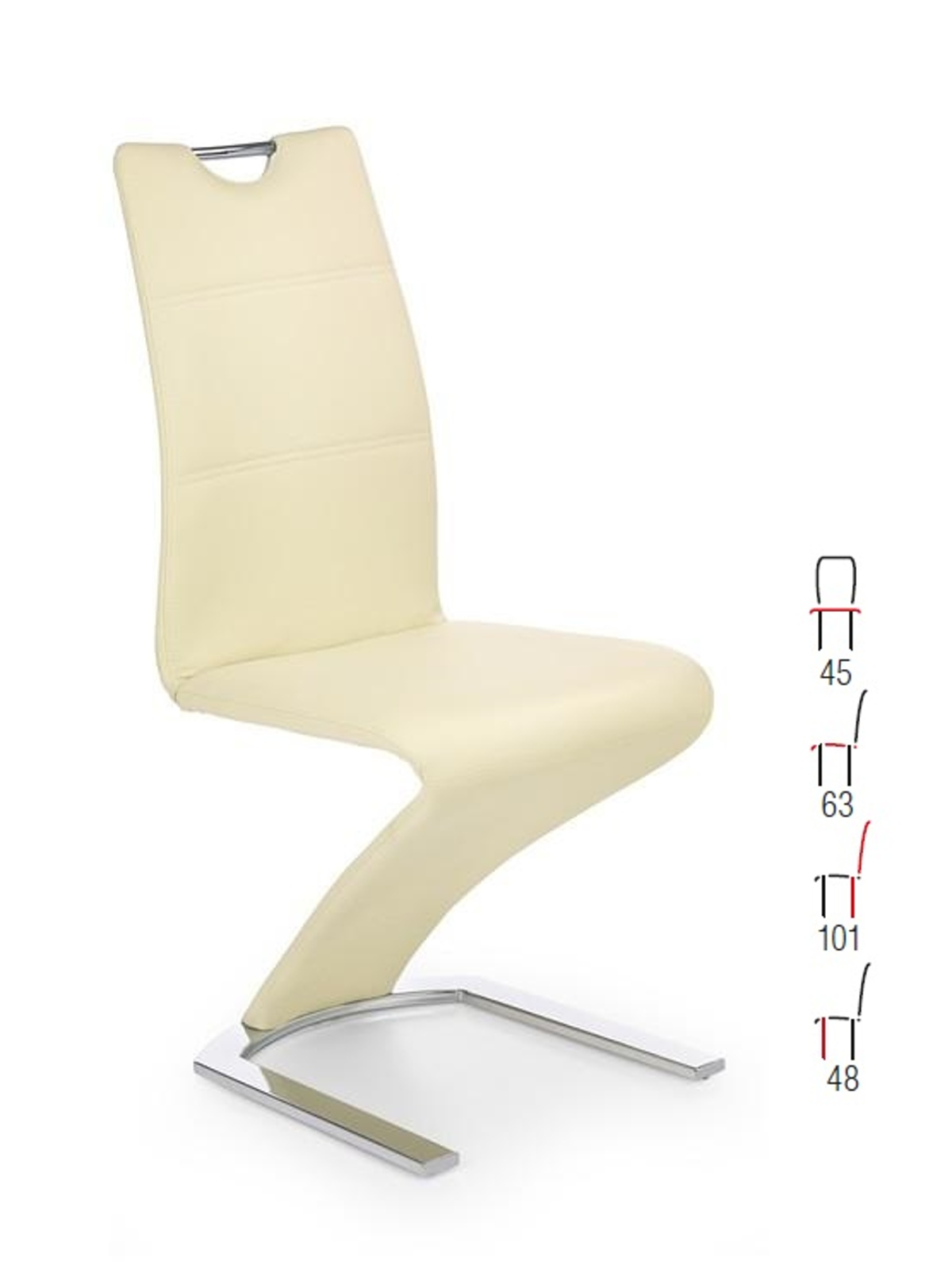 Halmar Židle K188, vanilka