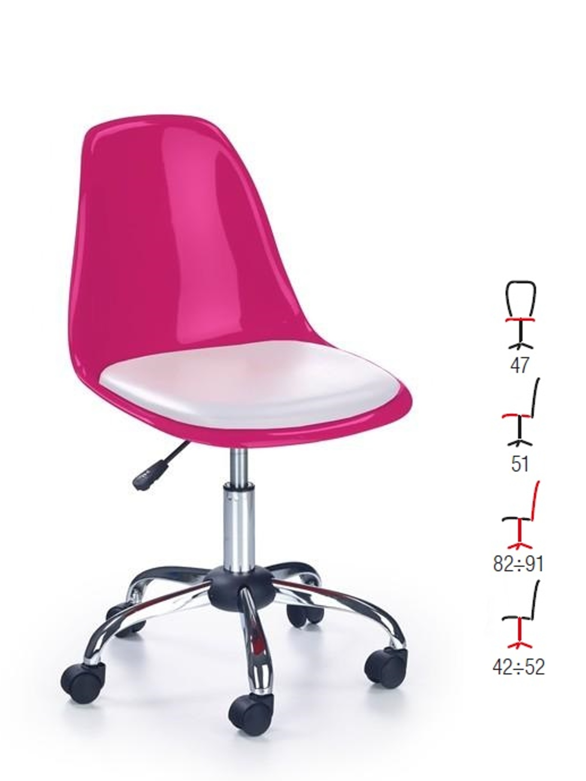 Halmar Dětská židle COCO II, růžová