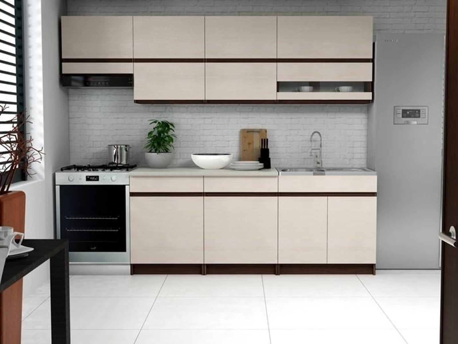 Halmar Kuchyně ELIZA I, 200/260 cm, jasan Verona světlý/jasan Verona tmavý