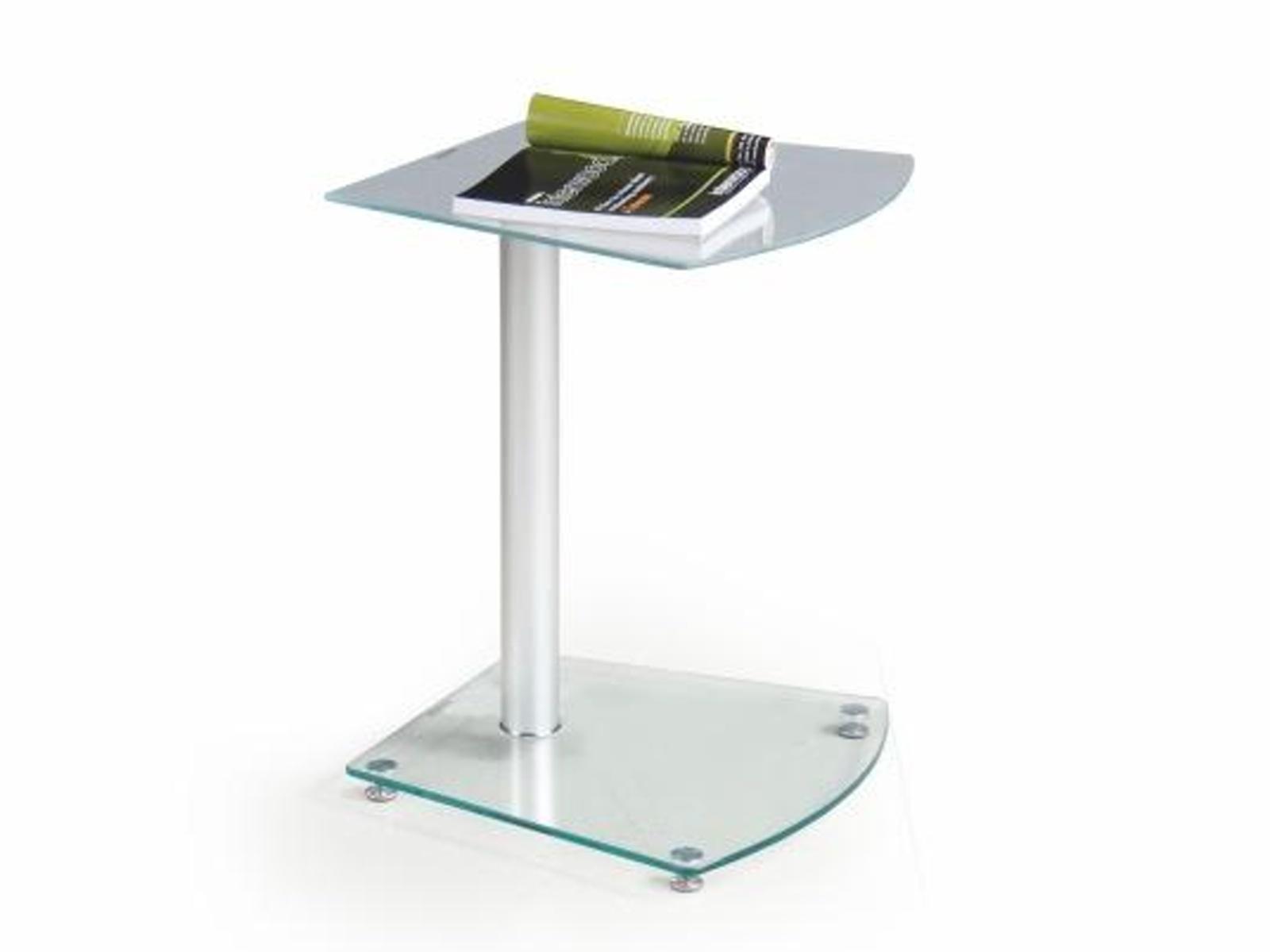 Halmar Konferenční stolek RUBY, kov/sklo