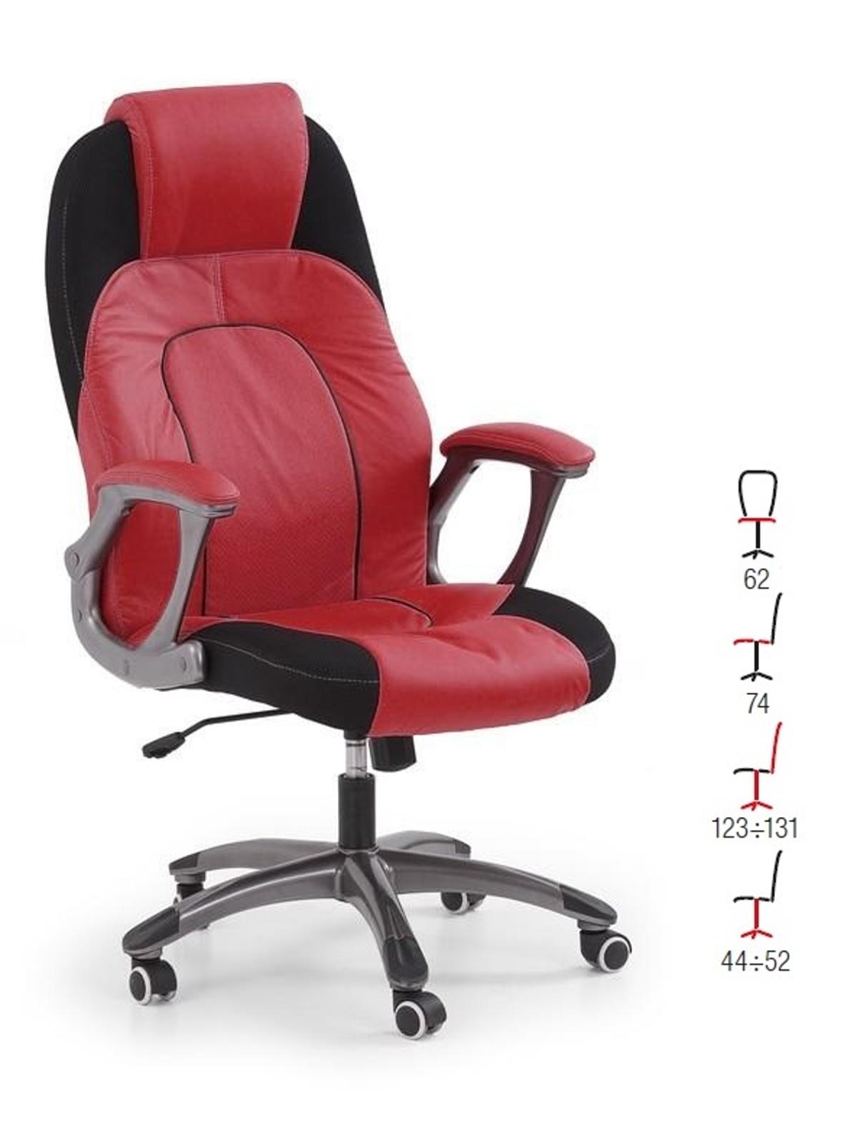 Halmar Kancelářské křeslo VIPER, červeno-černá