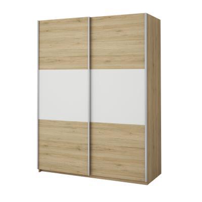 Idea Skříň s posuvnými dveřmi ECO 57010, dub/bílá