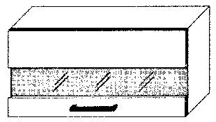Extom *SILVER+, skříňka horní prosklená W4bs 80 LAM, korpus: grey
