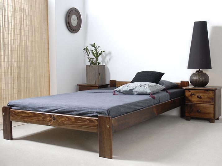 MAGNAT Postel CELINKA 120x200 cm s roštem, masiv borovice/moření ořech