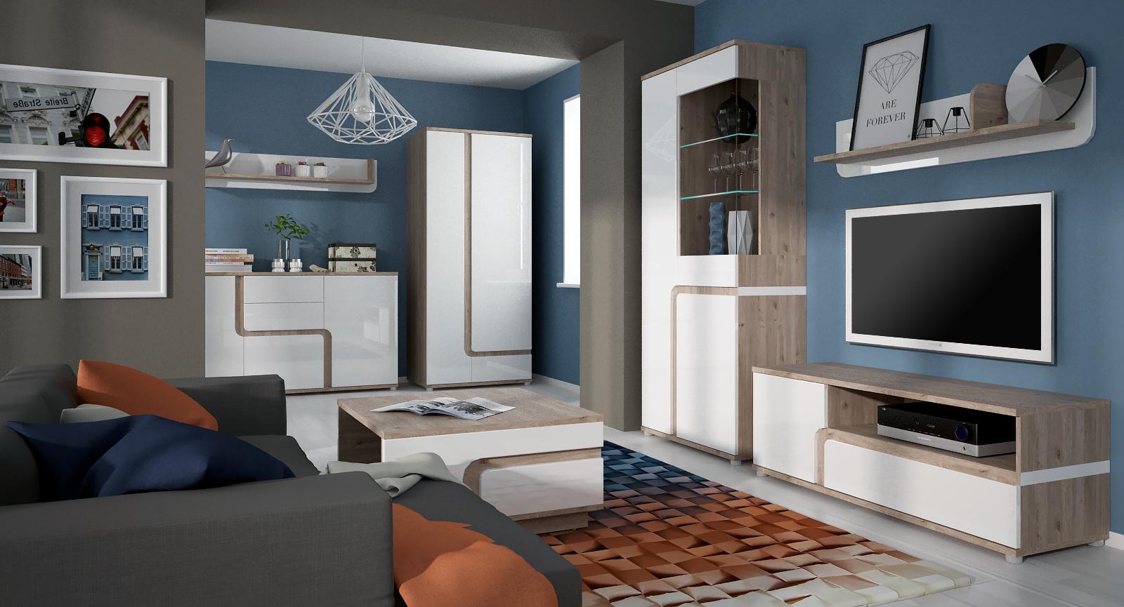 Extom Obývací pokoj MILANO, vzorová sestava 1