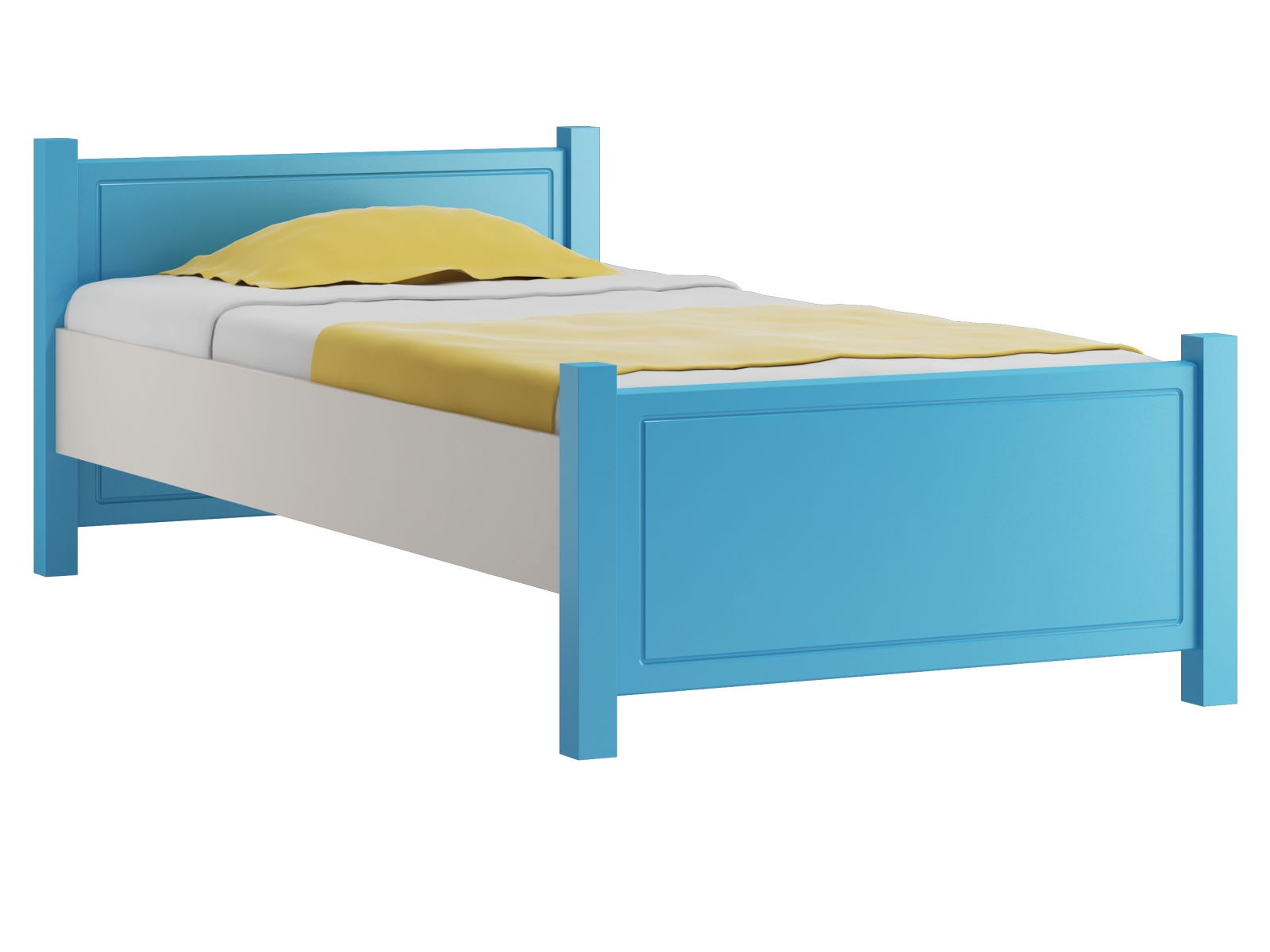 MAGNAT AMEKO postel 80x200 cm s roštem, masiv borovice