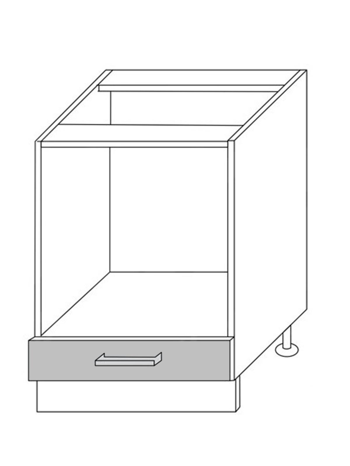 Extom QUANTUM, skříňka dolní D11k 60, beige mat/grey