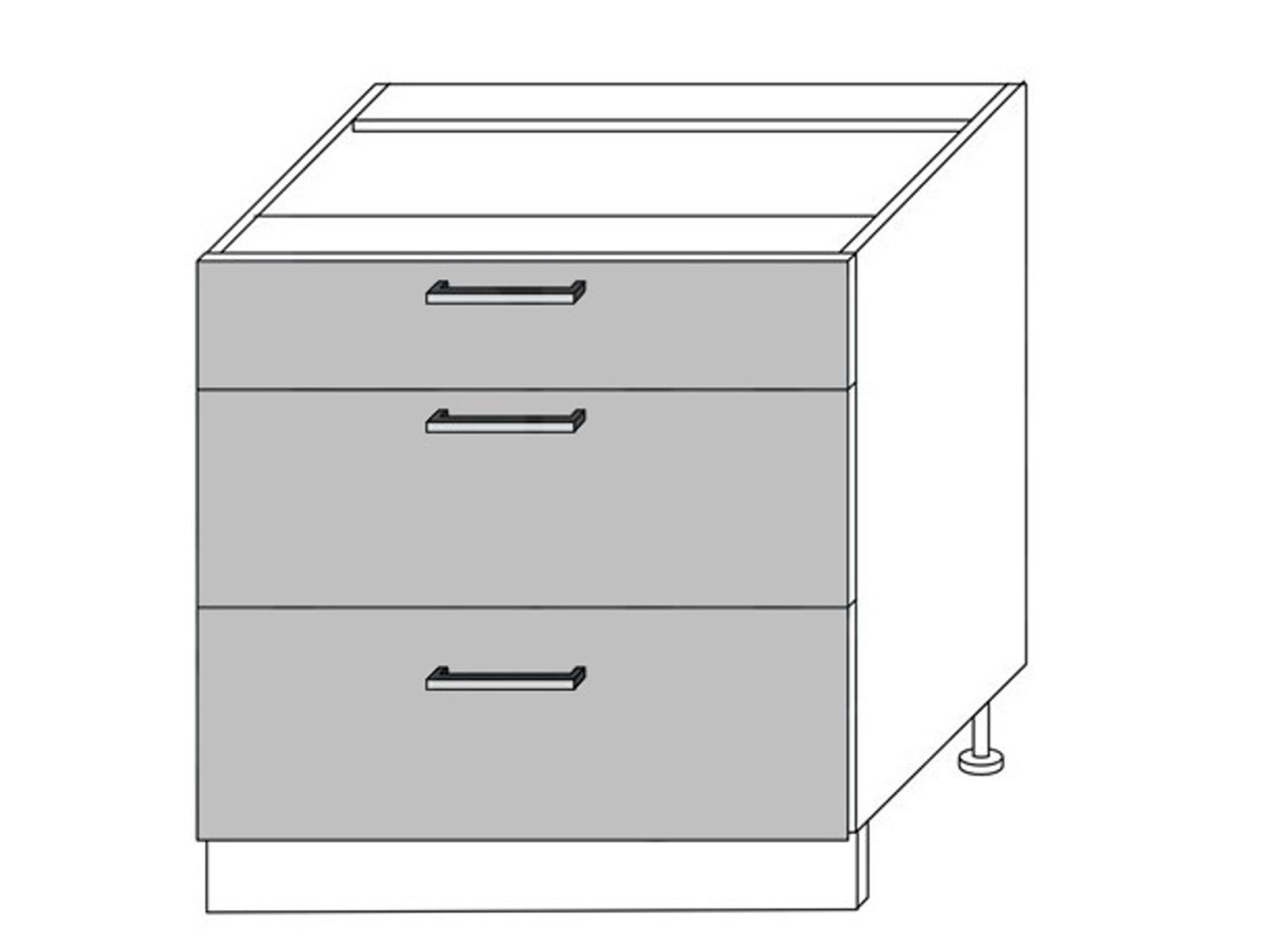 Extom QUANTUM, skříňka dolní D3M 80, vanilla mat/grey