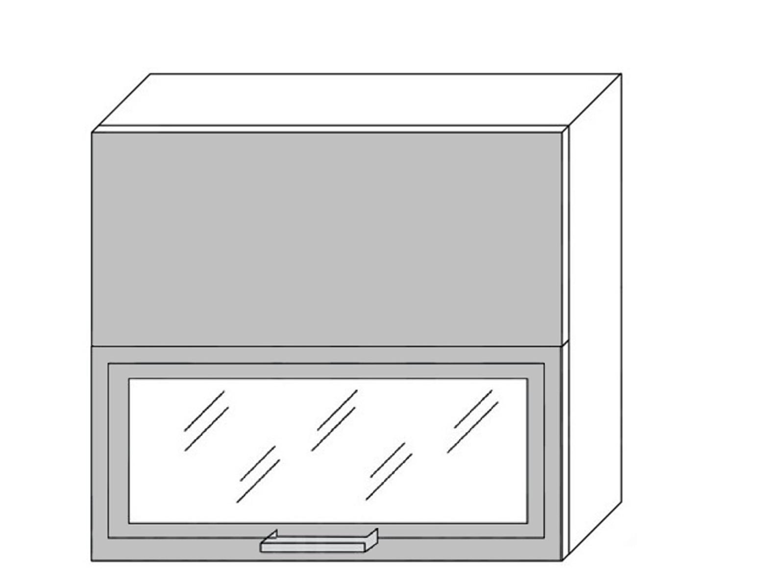 Extom *TITANIUM, horní skříňka W8B 80 AV WKF, korpus: grey