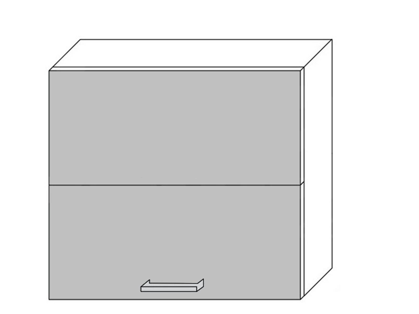 Extom *TITANIUM, horní skříňka W8B 80 AV, korpus: grey