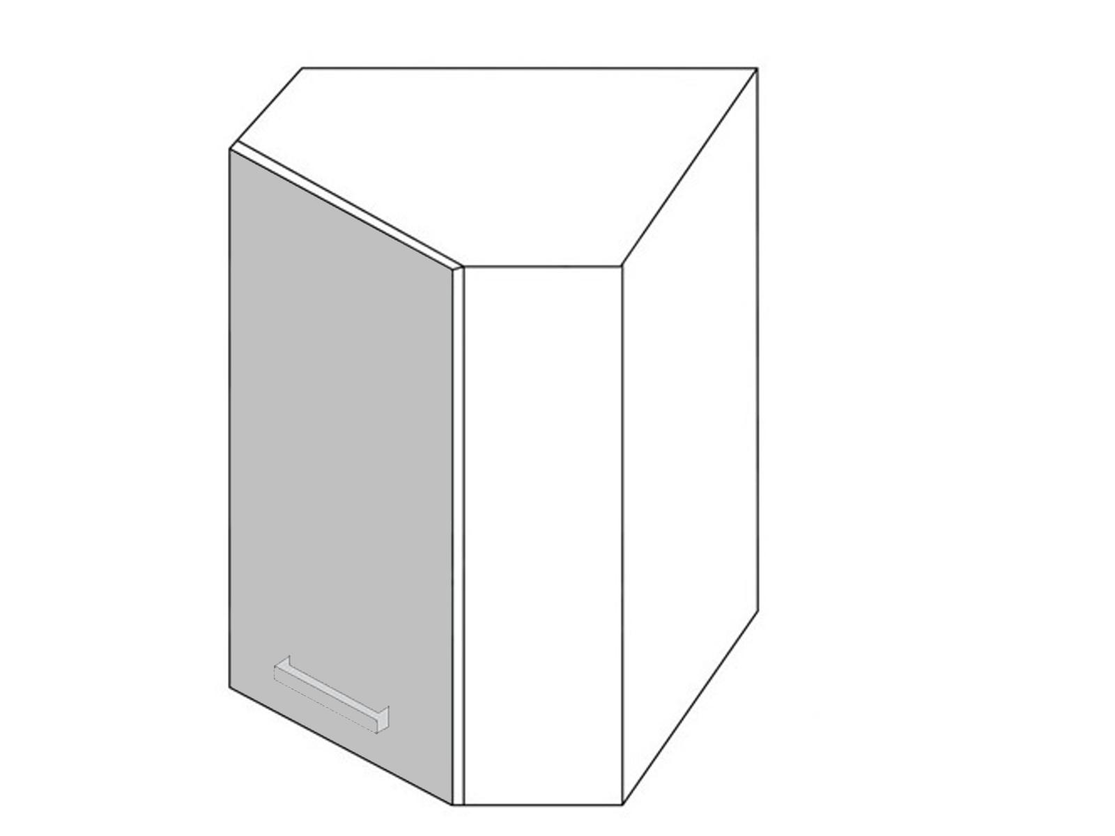Extom *SILVER+, skříňka horní rohová W 10, korpus: grey