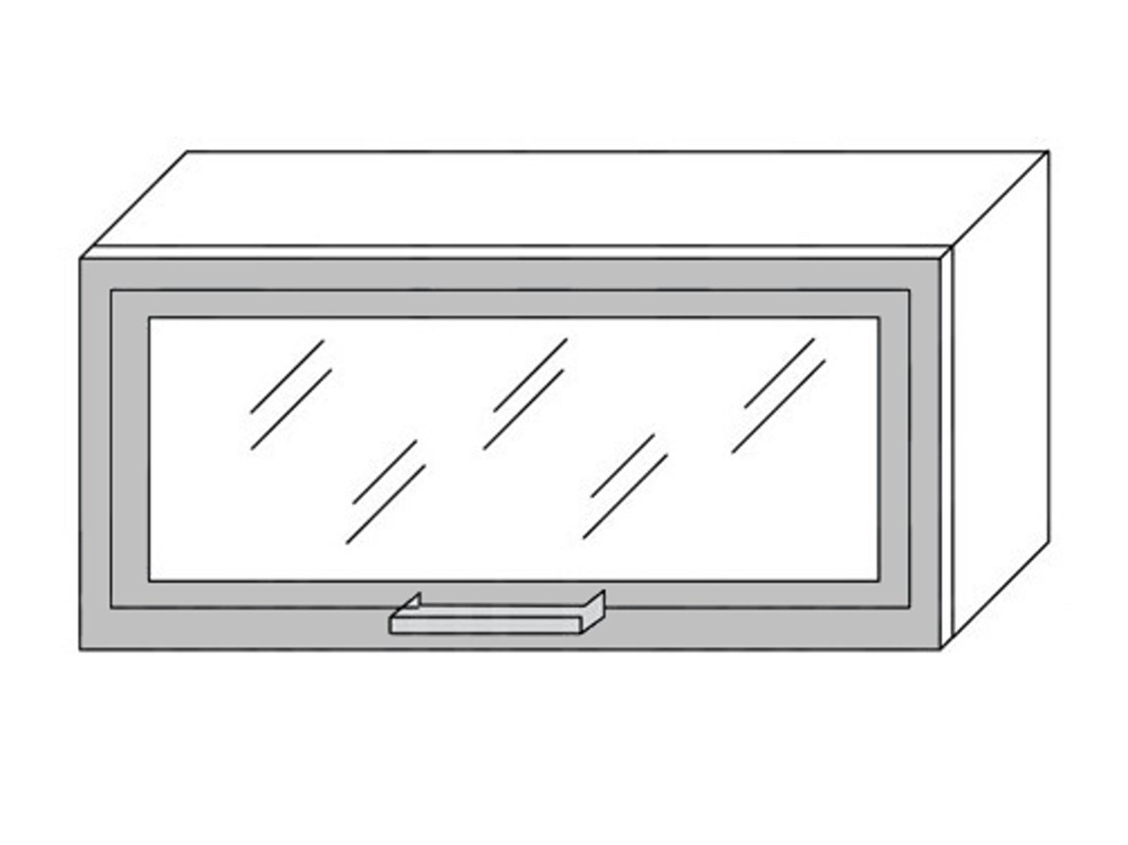 Extom *TITANIUM, horní skříňka W4bS 80, korpus: jersey
