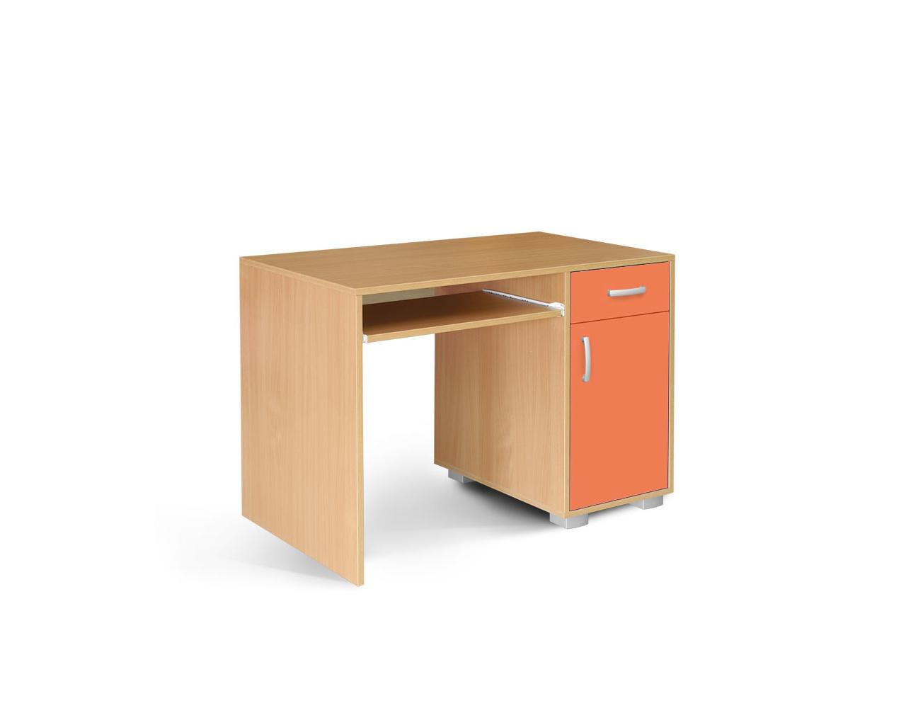 MATIS Dětský PC stůl BAMBI, 1F1V, buk/oranžová