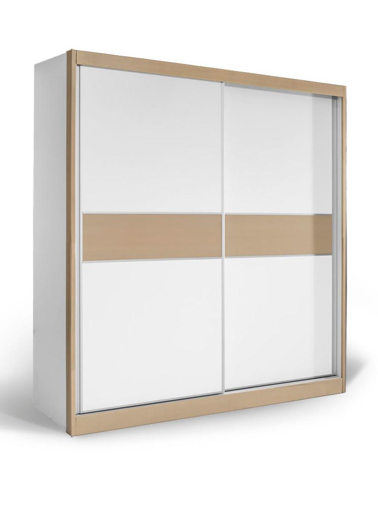 MATIS Skříň s posuvnými dveřmi APM 200, bílá/dub