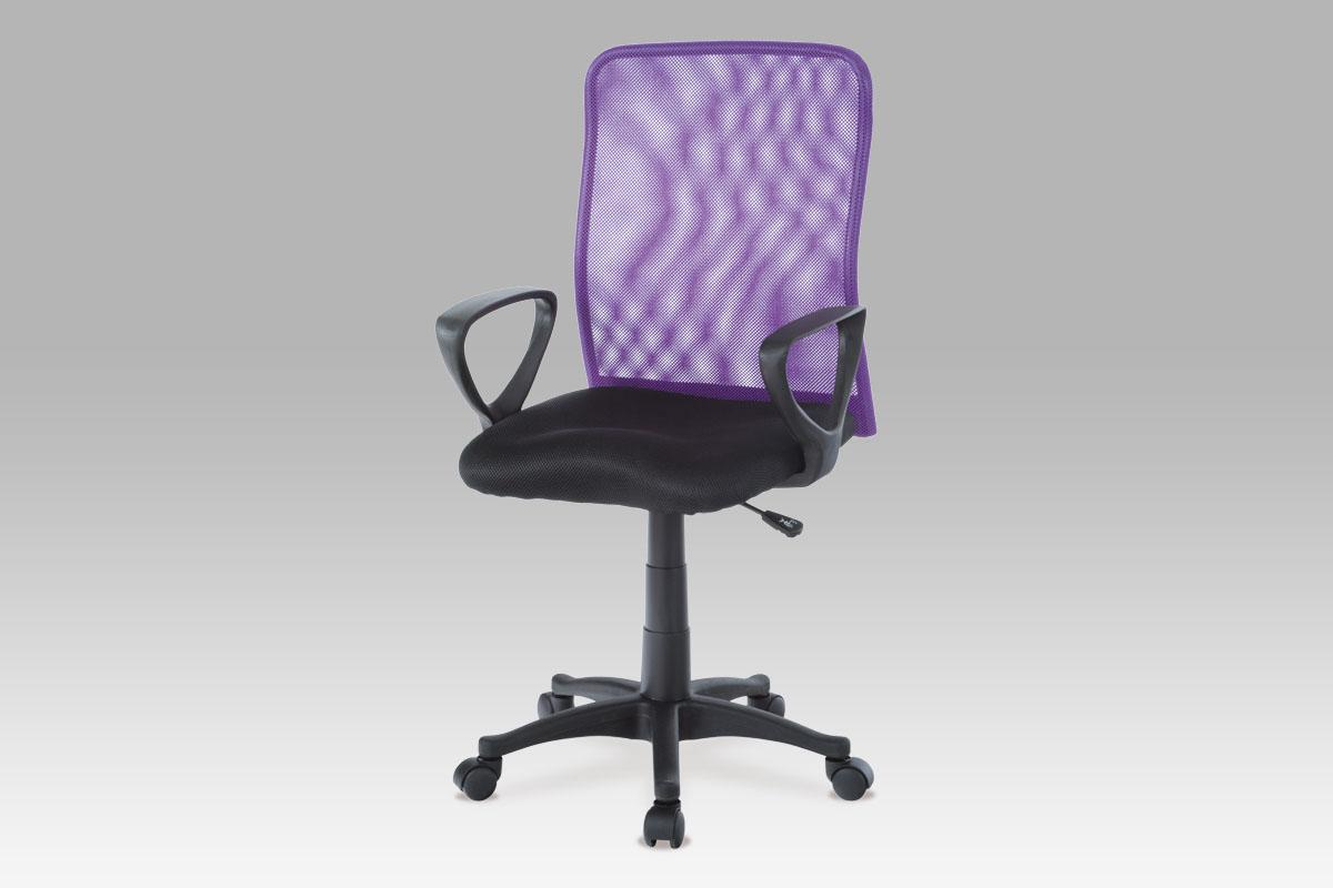 Autronic Kancelářská židle, černá / fialová, KA-BERT PUR
