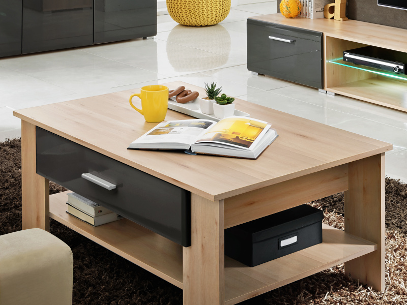 Smartshop Konferenční stolek BLADE 2, buk ikonik/lava