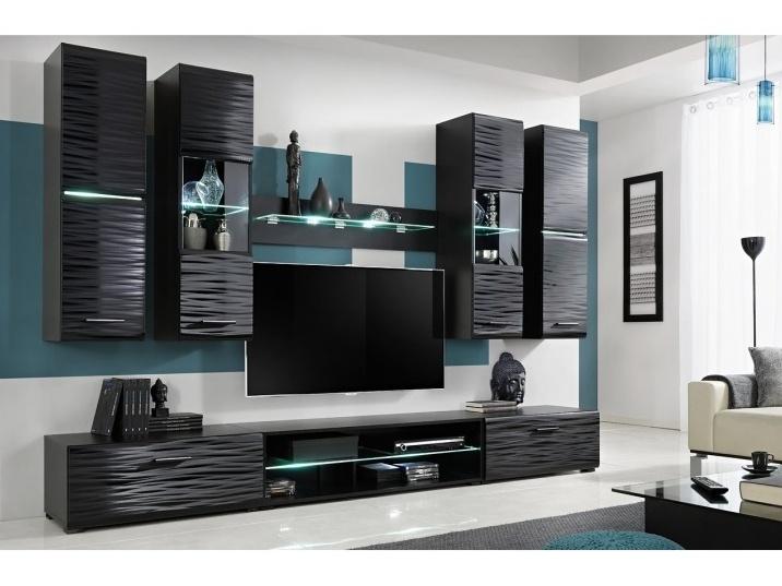 Smartshop Obývací stěna BLADE 4, černá/sahara
