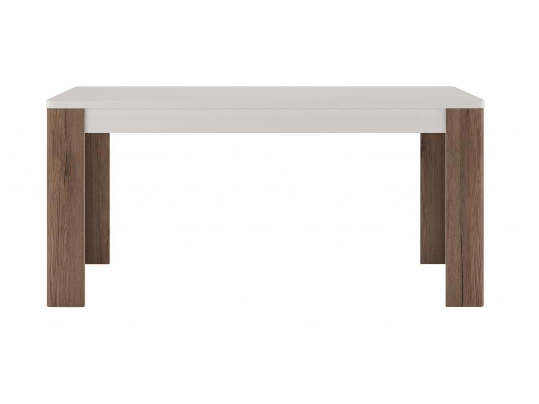 Extom TORONTO, stůl TOT 02, alpská bílá/dub truflový