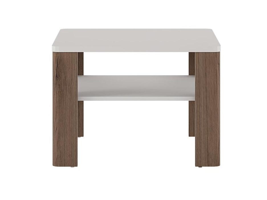 Extom TORONTO, stolek TOT 06, alpská bílá/dub truflový