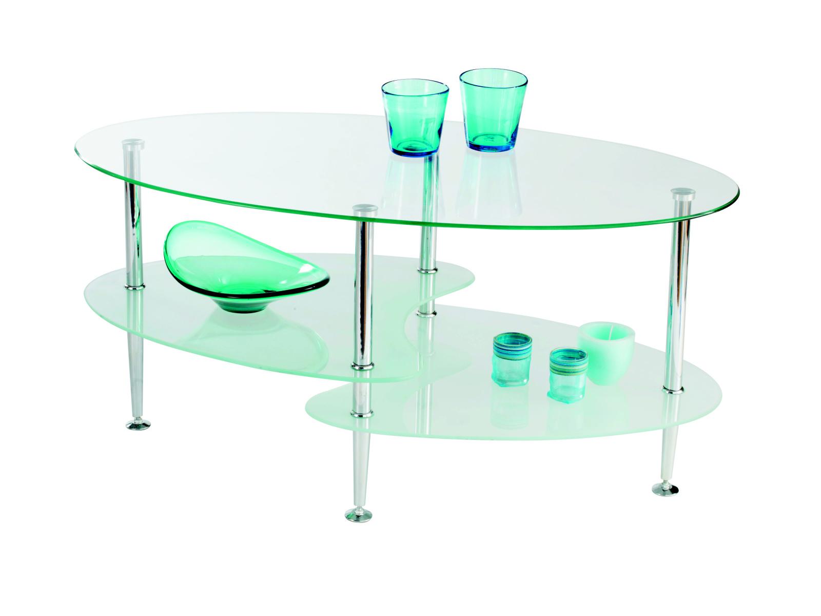 DEMEYERE YOKO, konferenční stolek, chrom/sklo