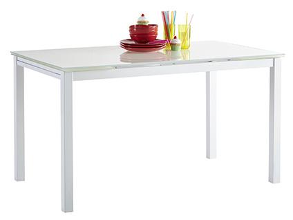 DEMEYERE KARA, rozkládací jídelní stůl, bílý