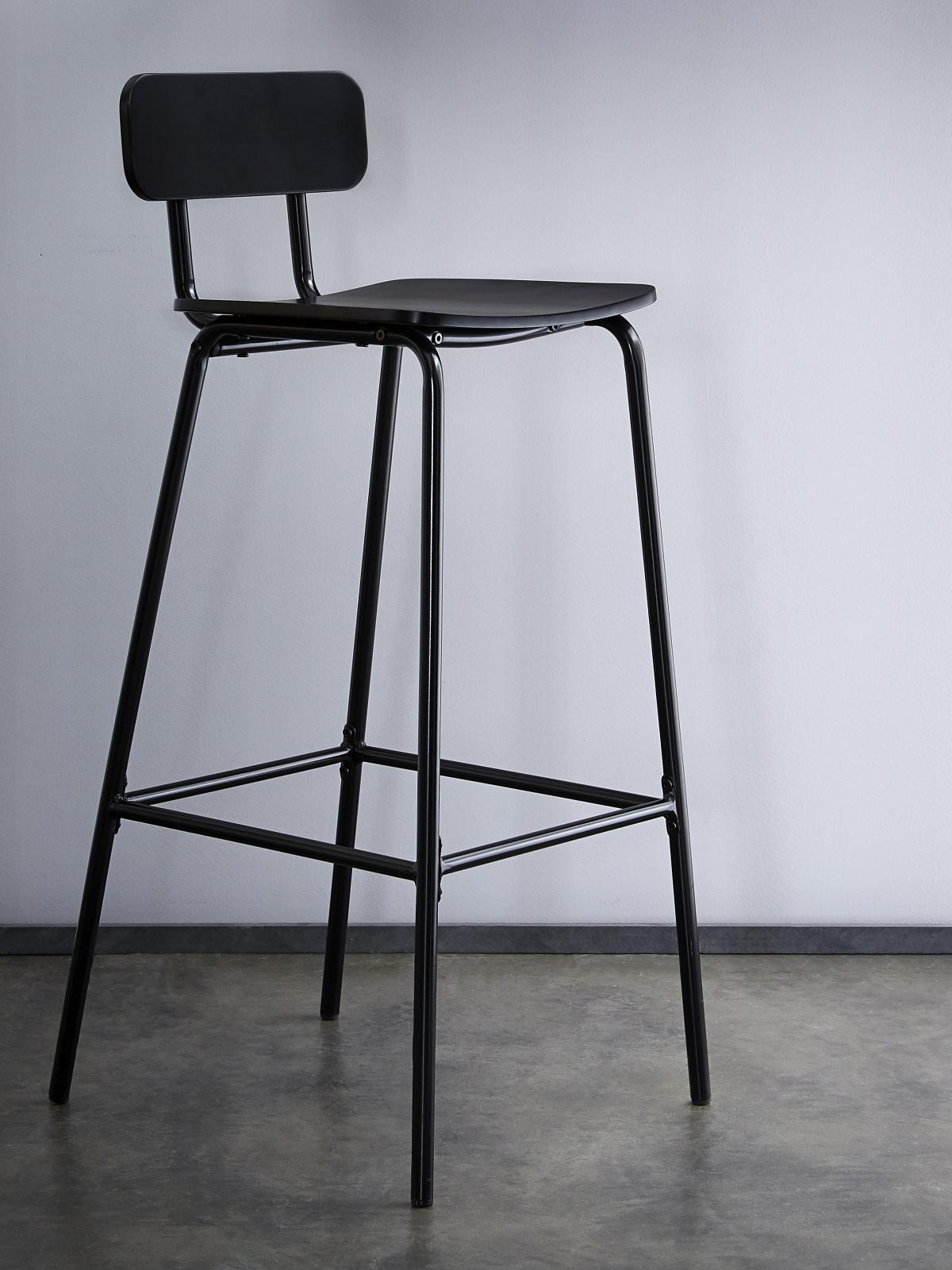 DEMEYERE MYKA, barová židle, černá