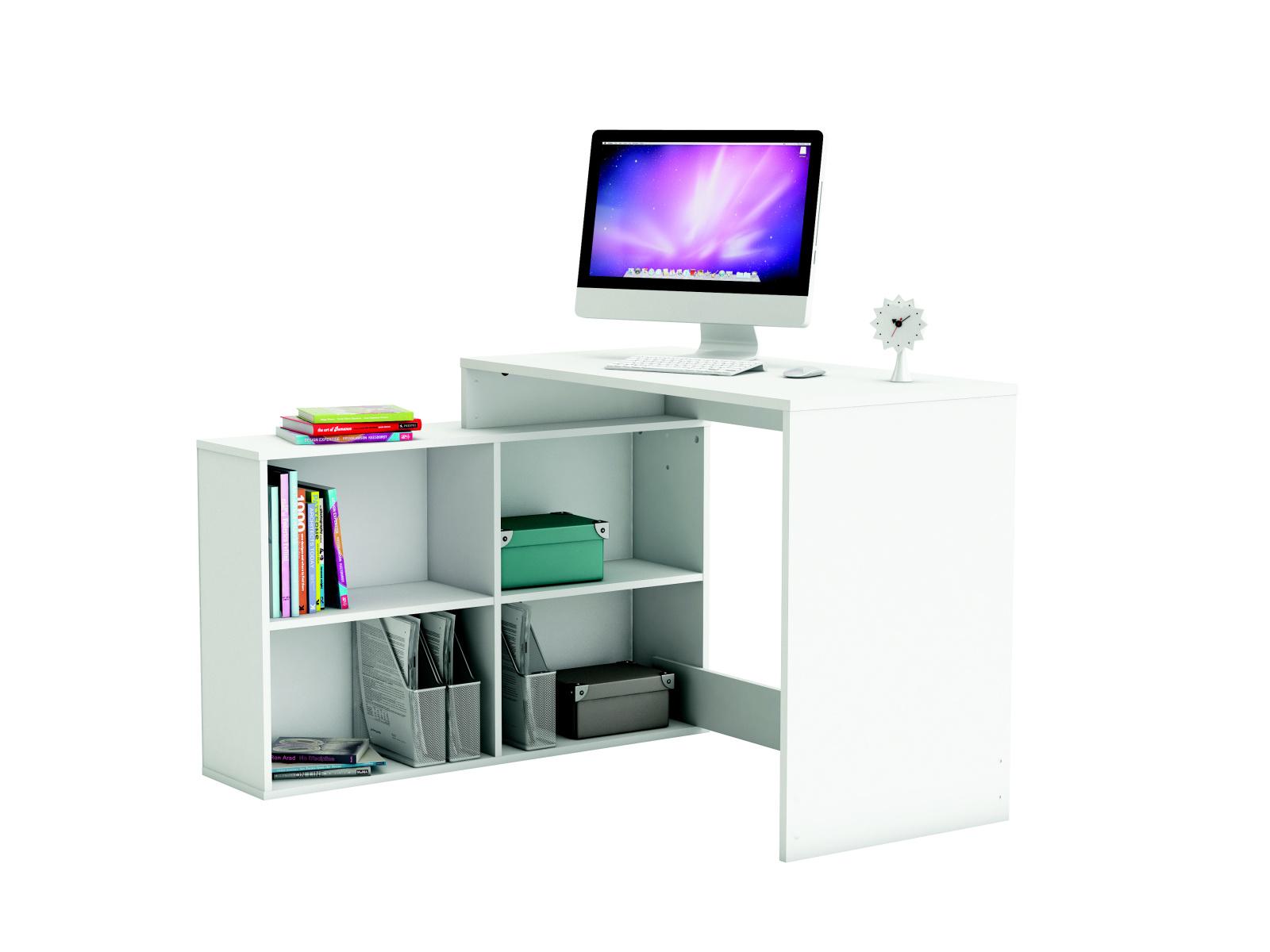DEMEYERE Univerzální rohový psací stůl KORNER, bílá