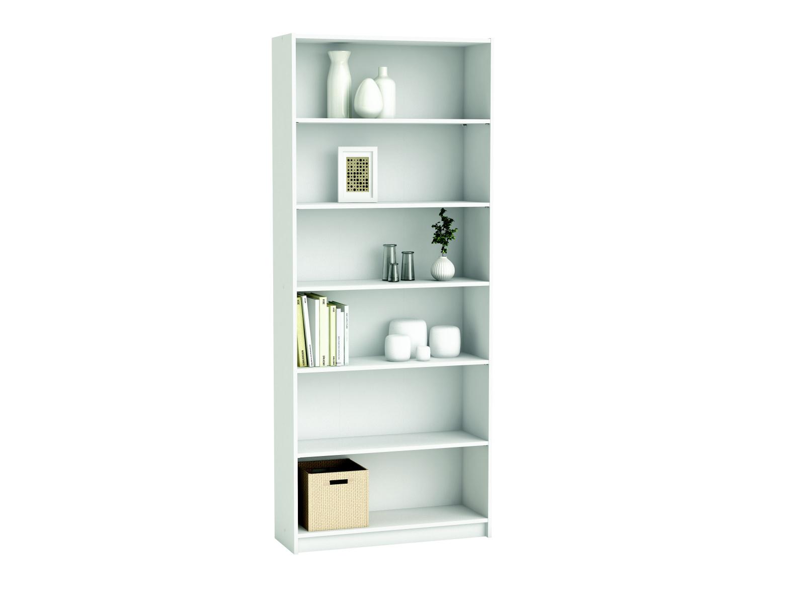 DEMEYERE BLANKO, knihovna 80x190 cm, bílá