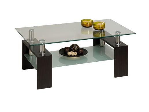 DEMEYERE CIBER, konferenční stolek, wenge/sklo