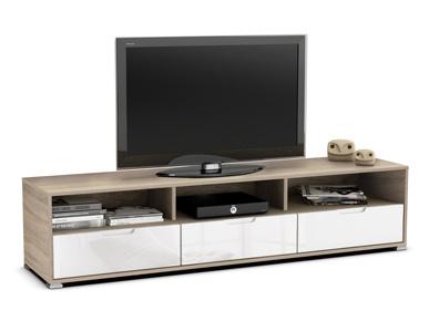 DEMEYERE KLIO, TV stolek, dub sonoma/bílá